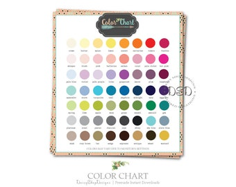Premade Color Chart for Your Etsy Store Listings | Bohemian Tribal Arrow | Peach Teal | Matching Etsy Shop Sets Sold Separately