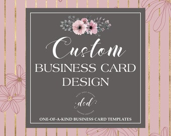 Custom Order Business Card Design   Personal or for  Small Crafty Business Owners   Double Sided Business Card Printing Template