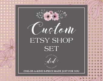 Custom Order Complete Etsy Shop Set   OOAK Etsy Set   Exclusive Etsy Cover Set   Etsy Cover Photo Set   One-of-a-Kind   Branding Package