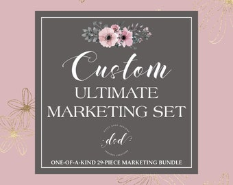 Custom Order Marketing Set   OOAK Marketing Package   Exclusive Set For Small Crafty Business Owners   Matching Printable Items Branding Set