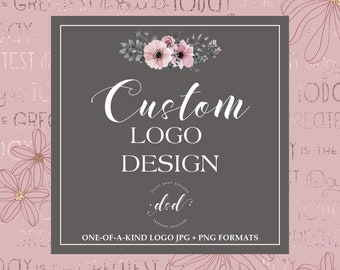 Custom Order Logo Design For Small Crafty Business Owners   OOAK Logo Design   Exclusive Logo Designs   One-of-a-Kind Logo Branding