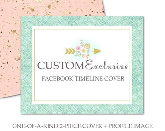 Custom Facebook Timeline Cover,Profile Image/Avatar Set For Your Business Page-Personal Use or For Small Crafty Business-Social Marketing