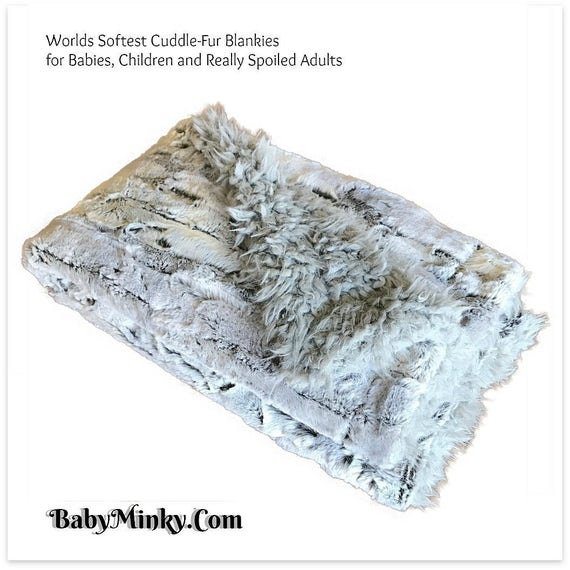 worlds softest minky cuddle fur blanket reversible soft etsy. Black Bedroom Furniture Sets. Home Design Ideas
