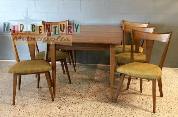 Excellent Mid Century Modern Heywood Wakefield Cadence Dining Set 1956 7 Pieces In Sabal Finish Beatyapartments Chair Design Images Beatyapartmentscom