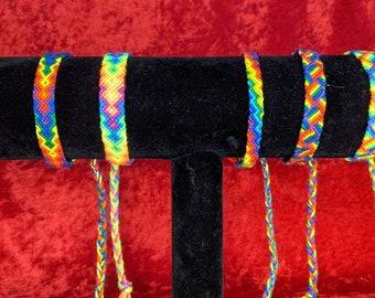 Handmade Hypoallergenic Rainbow Friendship Bracelets