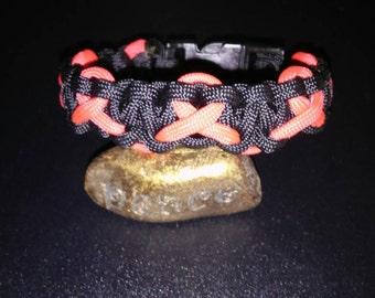 AIDS Awareness Ribbon paracord bracelet