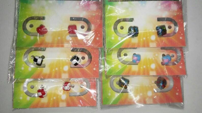Handmade Hypoallergenic Plastic Lanyard Stud Earrings Singles image 0