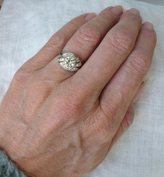 An Edwardian 1.50 carat Old Cut Diamond Engagement Ring in 14kt White Gold - Caroline