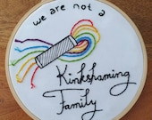 Embroidery No Kinkshaming in embroidery ring
