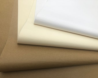 100% Recycled Kraft Ivory & White Tissue Paper, Eco Friendly Gift Wrap Business Packaging 50cm x 37cm