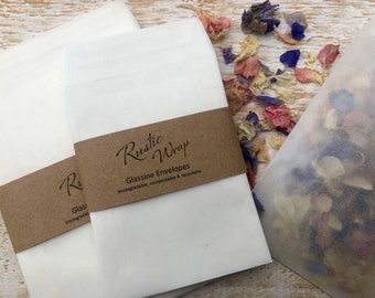 Glassine Envelopes 89mm x 117mm Wedding favour, Confetti, Peel & Seal biodegradable bags