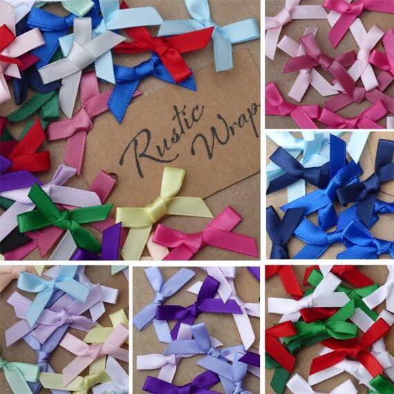 100pcs 30mm Mini Ribbon Bow Tie DIY Scrapbook Making Embellishment 9 Colors