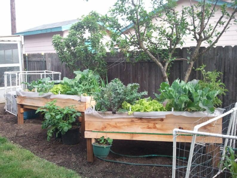 Accessible No-Stoop Garden Planter Bed  Downloadable DIY image 0