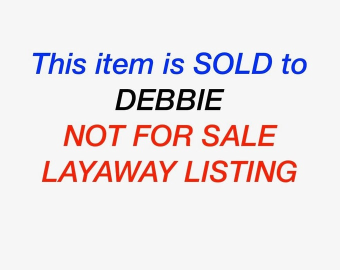 Layaway 5 for Debbie Vintage 18K yellow gold sapphire and diamond ring