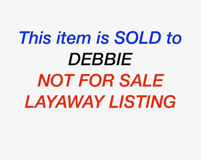 Layaway 1 for Debbie Vintage 18K yellow gold sapphire and diamond ring.