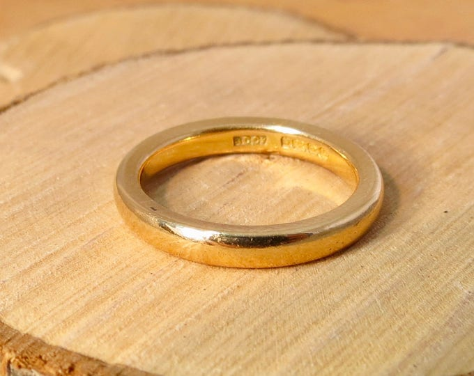 Antique wedding ring 22k yellow gold vintage ring made in 1940