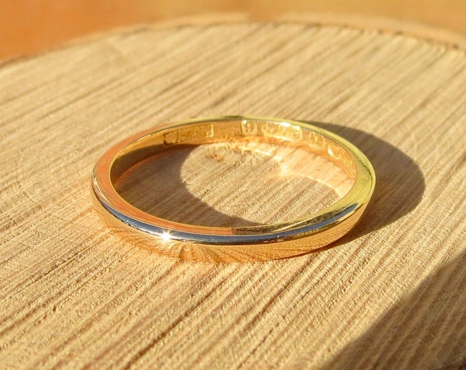 Vintage 9K band yellow gold band. Made in 1947