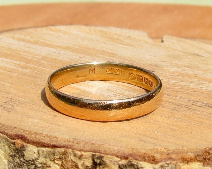 22k gold wedding-ring,  Art Deco band made in 1927