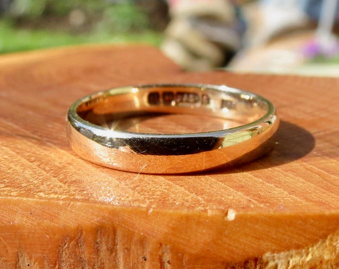 Wedding ring, vintage 9K yellow gold made in 1932