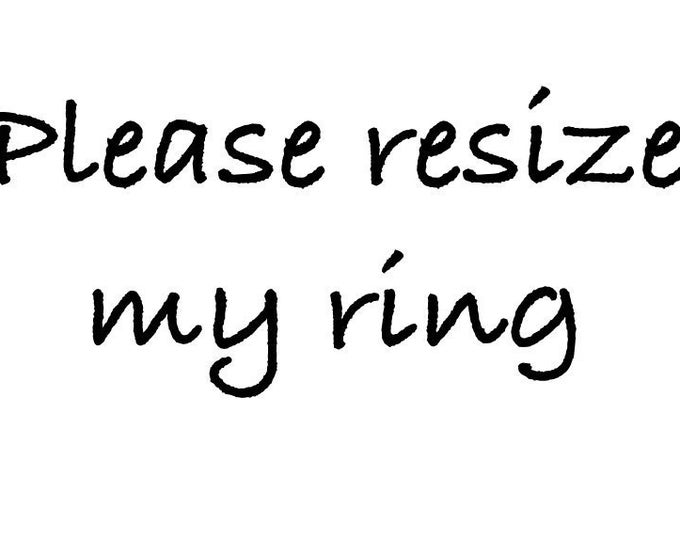 Resize my ring, and chart of ring sizes