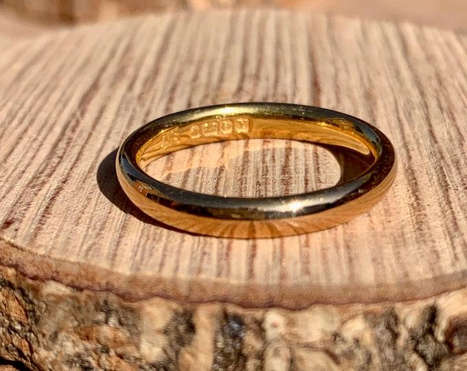 22K Gold ring, vintage, made in 1948