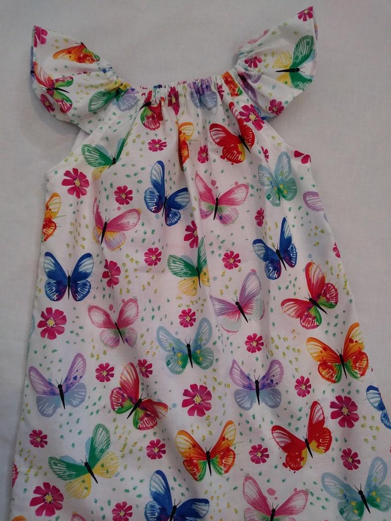 8a0567748 Girls Butterfly Dress Flutter Sleeve Dress Summer Dress