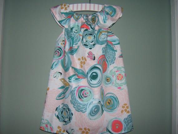 730051eb9 Girls Birthday Dress Ruffled Neck Dress Easter Dress Summer
