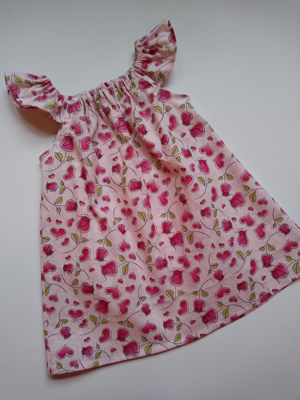 ffe152d84 Girls Valentine s Day Dress Flutter Sleeves Summer