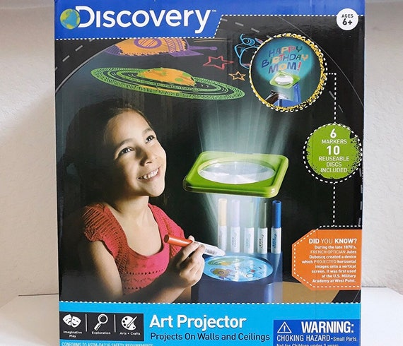 discovery art projector on walls and ceiling with markers etsy