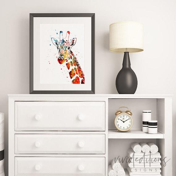 Giraffe Print Safari Animal Nursery Art Print Wall Decor | Etsy