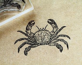 """Crab Rubber Stamp 2"""" x 3"""" - Crab Stamp - Ocean Stamp"""