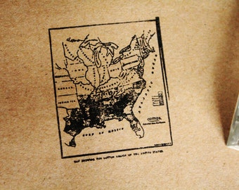 Southern States Map - Southern Rubber Stamp - Deep South Map Rubber Stamp