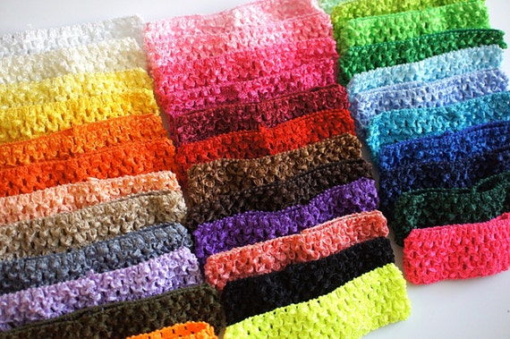 You Pick Colors Crochet Headbands Waffle Headband 15 Bulk Baby Headband Stretchy Newborn Headband Infant Headband 15 Inch