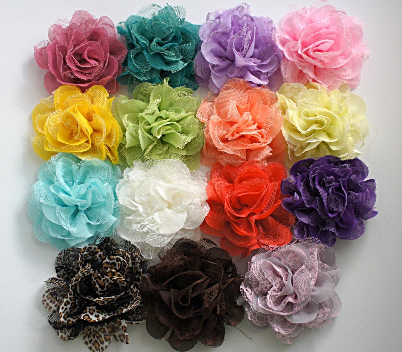Ballerina Chiffon Flower 3.5 Chiffon Flowers Ballerina Flower Chiffon Ruffle Flower Dark Purple Chiffon Flowers Chiffon Flower