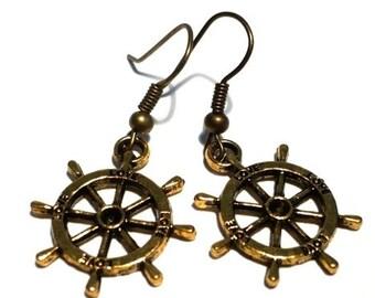 Steering wheel earrings