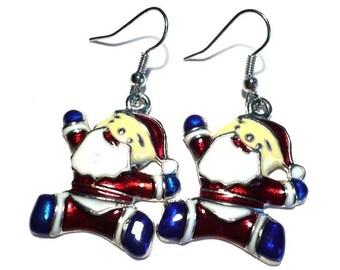 Christmas earrings Santa Claus
