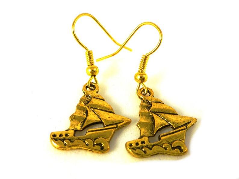 Sailing boat Earrings image 0