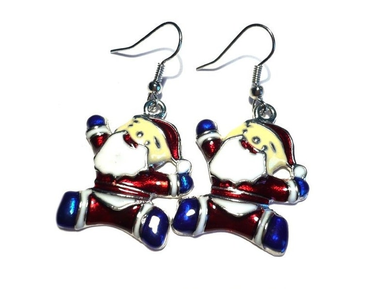 Christmas earrings Santa Claus image 0