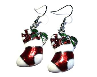 Christmas earrings Christmas stockings