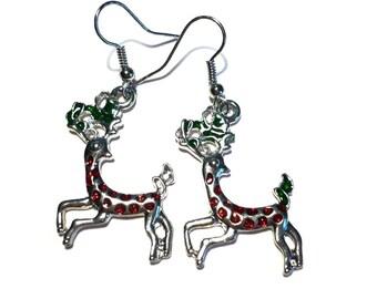 Christmas earrings reindeer