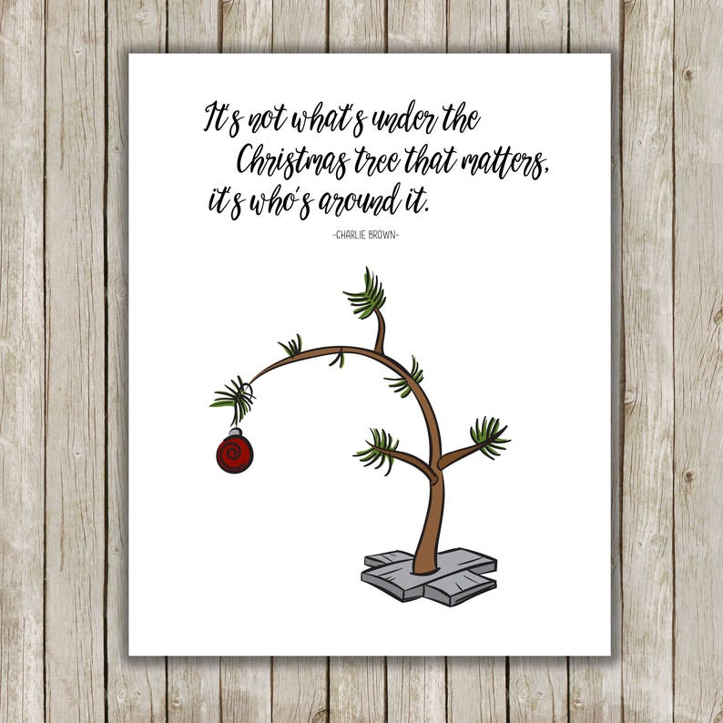 Charlie Brown Christmas Tree Quote.8x10 Christmas Printable Charlie Brown Quote Typography Print Christmas Art Charlie Brown Christmas Printable Quote Charlie Brown Tree