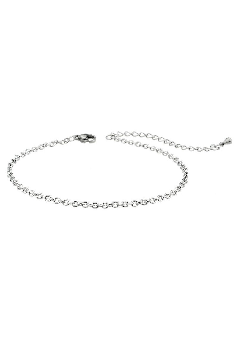 Stainless steel bracelet lobster clasp adjustment chain