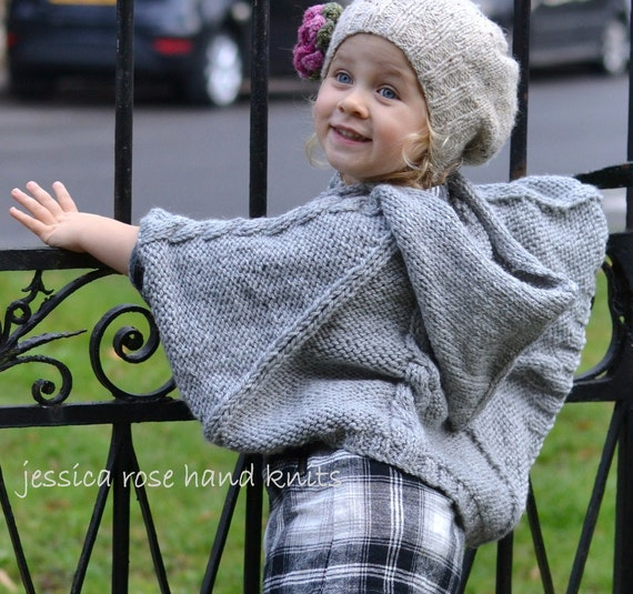 f6e5ab7b9 PONCHO pdf baby KNITTING PATTERNS newborn to 3 years
