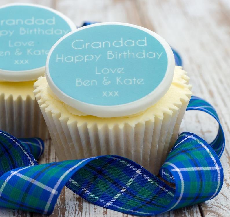 Grandad Birthday Cupcake Toppers Gift Grandpa Cake
