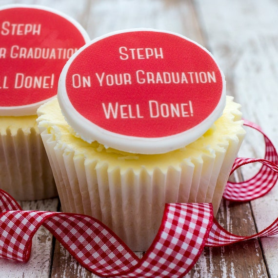 Graduation Cupcake Toppers Exam Celebration Gifts Cupcake Decorations Well Done Gift You Passed University Degree Masters Phd Gift