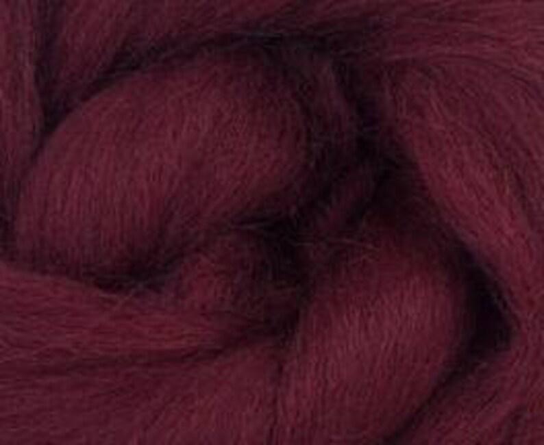 in Burgundy 2 oz Sliver Corriedale Wool Roving World of Wool product