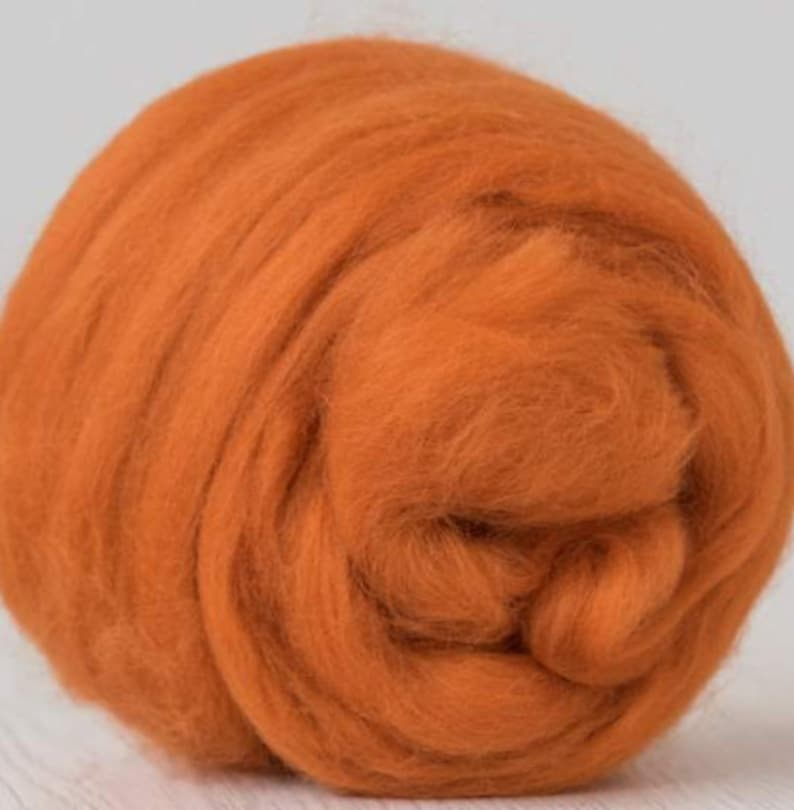 DHG 4 ounces Merino Wool Roving  Combed Top  Wool in Marigold
