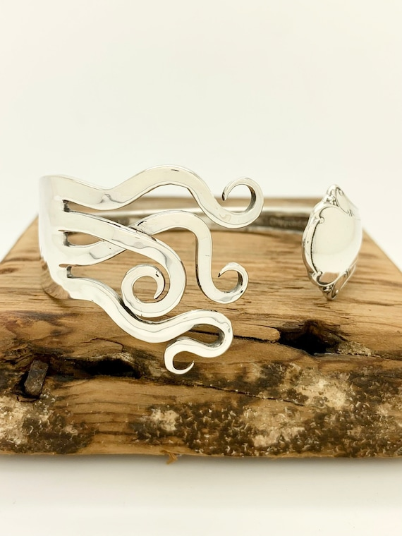 Sterling Silver Fork Cuff Bracelet