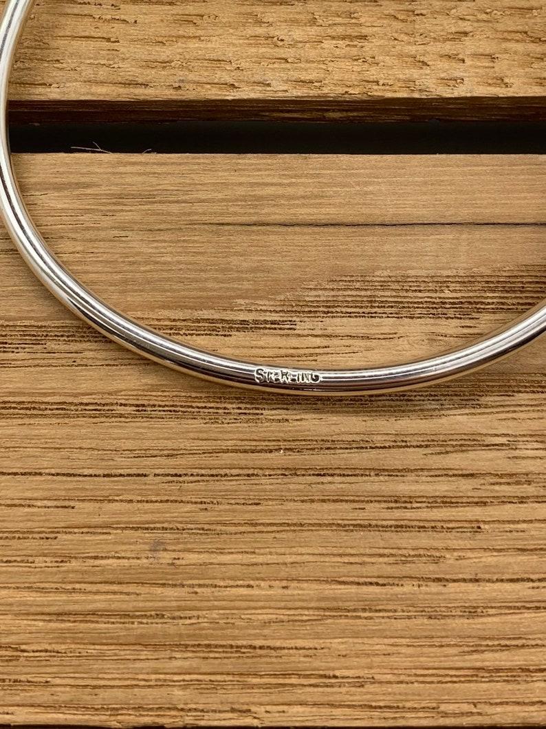 Stackable Sterling Silver Spoon Bangle Bracelet Arrow