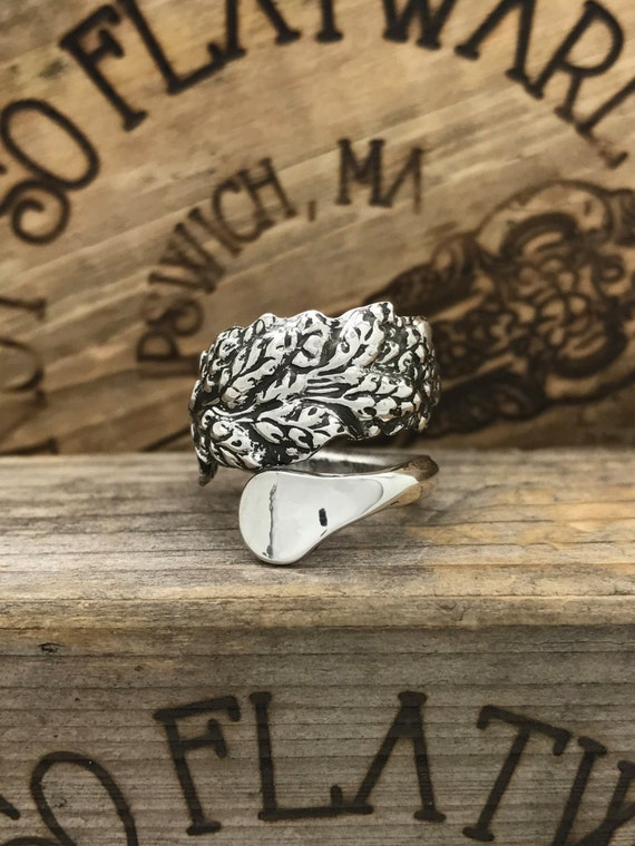 Size 4.5 Vintage Sterling Silver Spoon Ring